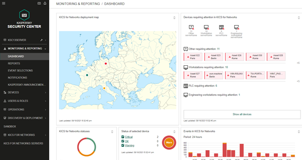 Kaspersky Industrial CyberSecurity deblochează managementul centralizat și vizibilitatea pe întreaga infrastructură OT