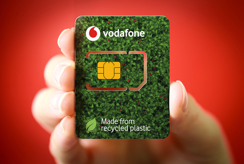 Vodafone lansează Eco-SIM-urile fabricate din plastic reciclat
