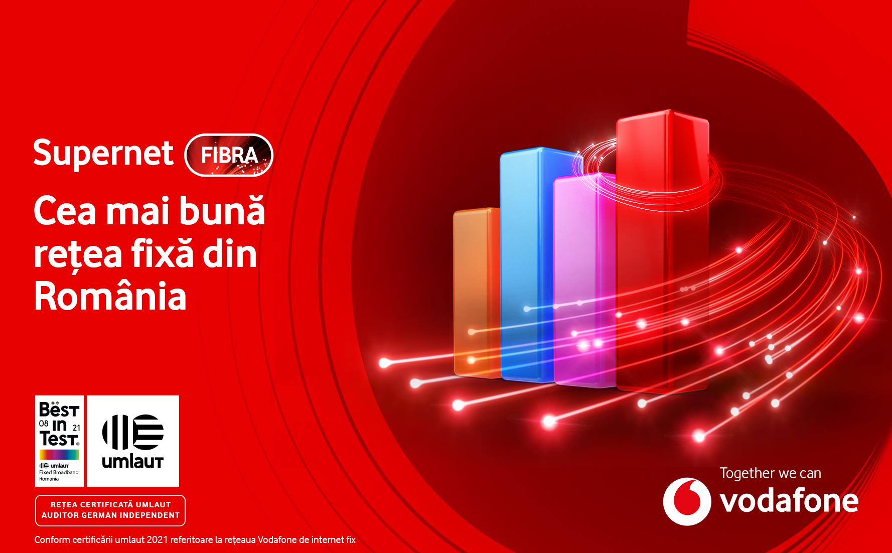 Vodafone Supernet Fibra asigură cea mai bună experiență de utilizare a internetului fix din România