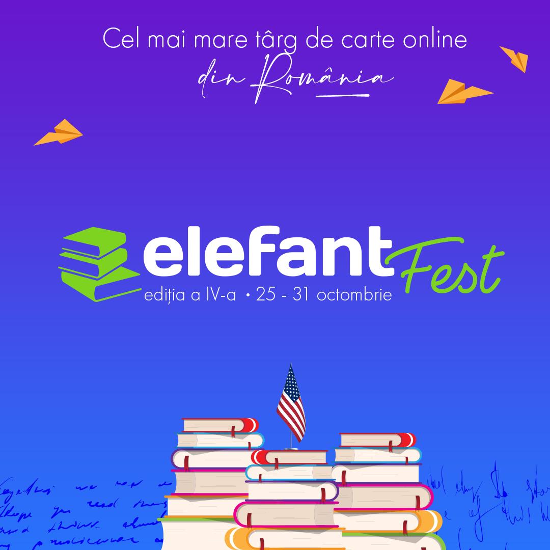 elefantFest va avea loc în perioada 25-31 octombrie. Cea de-a patra ediție este dedicată autorilor americani.