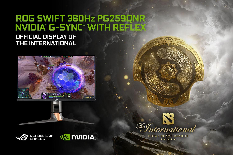 ASUS ROG Swift 360 Hz a fost ales monitorul oficial al DOTA 2 The International 10 Tournament