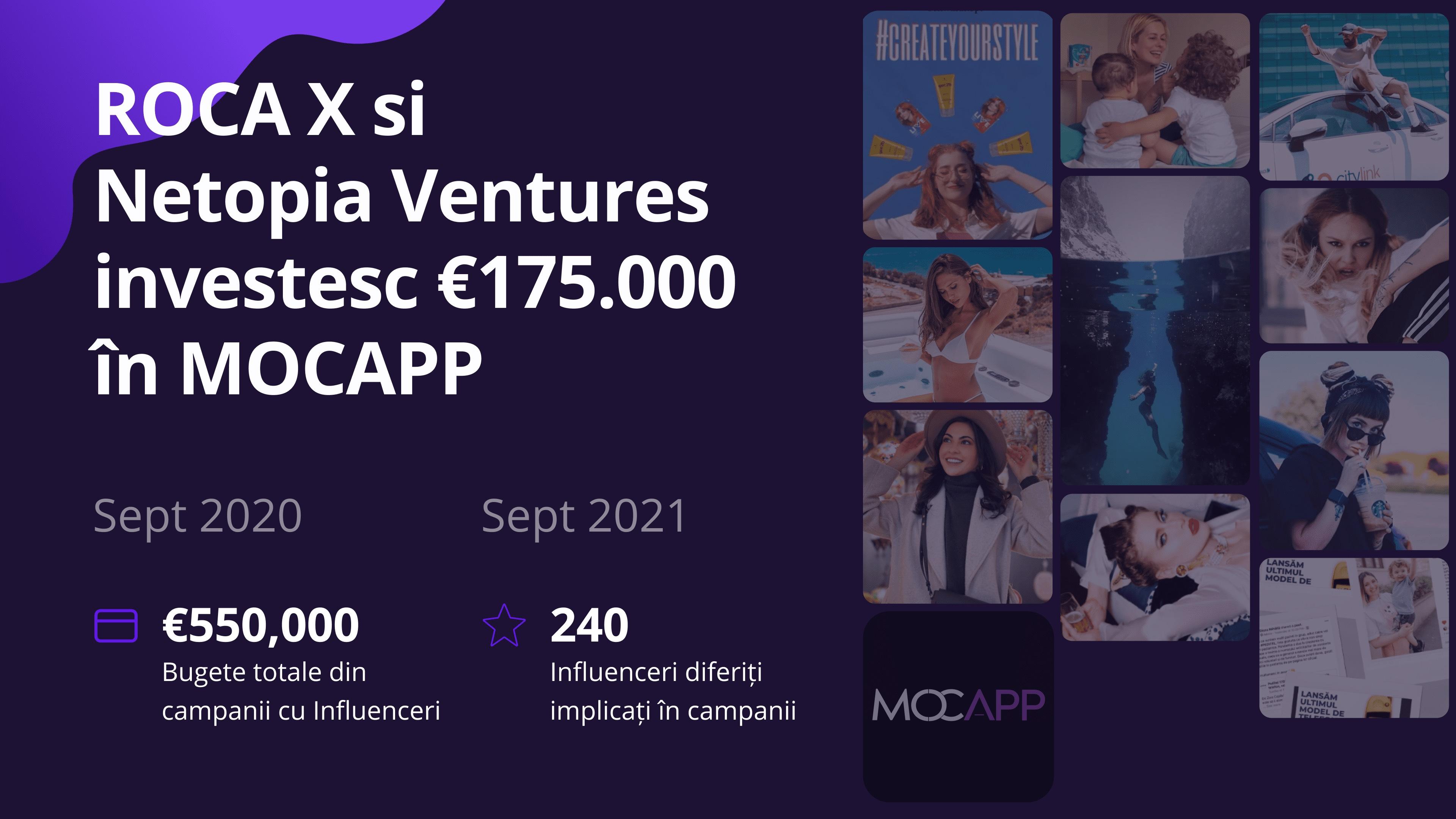 ROCA X și Netopia Venture investesc în MOCAPP